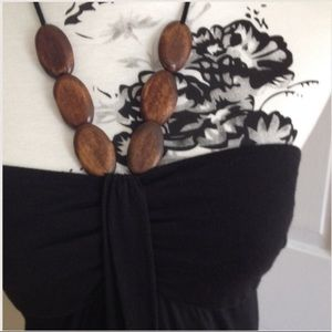 Target dress and wooden halter beads tshirt dress